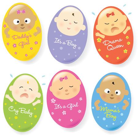 Photo pour Baby set 4 multi-ethnic  - image libre de droit