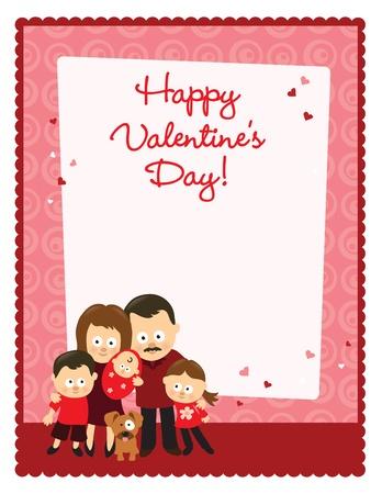 Valentine's Day flyer with family