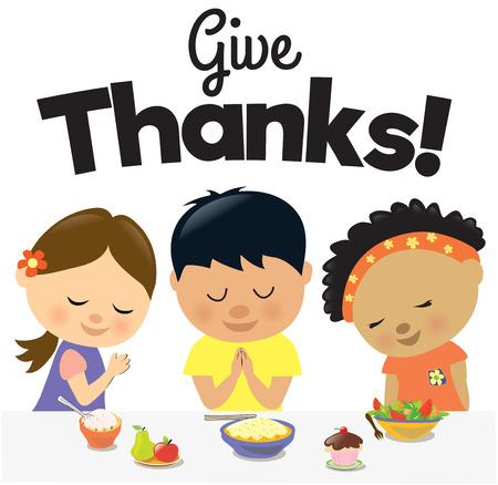 Illustration pour Kids Give Thanks - image libre de droit