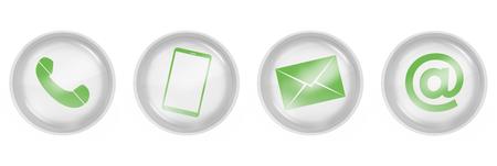 Photo pour contact us icons design - image libre de droit