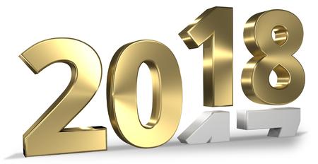 Photo pour 2018 happy new year 3d render - image libre de droit