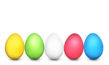 Easter Eggs Festive Colored 3d render