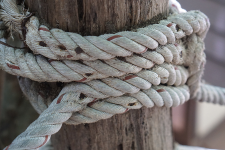 rope at wood