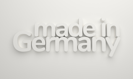 made in germany white 3d rendering background