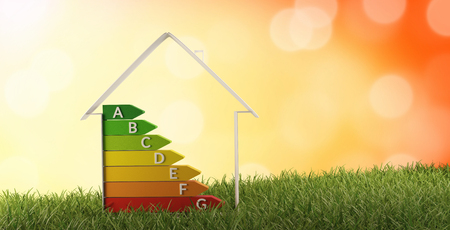 Photo pour 3d-illustration symbol house energy efficiency - image libre de droit