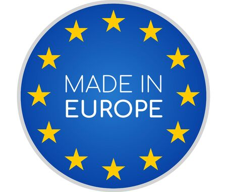 Photo pour made in Europe symbol icon 3d-illustration isolated on white - image libre de droit