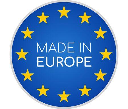 Foto de made in Europe symbol icon 3d-illustration isolated on white - Imagen libre de derechos