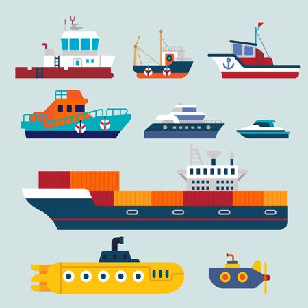 Ilustración de boats and ships - Imagen libre de derechos