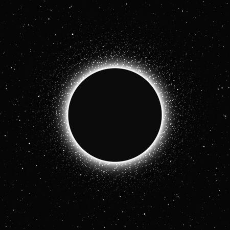 Illustration pour Moon eclipse isolated on dark background. Magic vector elements - image libre de droit