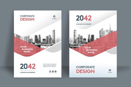 Illustration for Corporate Book Cover Design Template in A4. Can be adapt to Brochure, Annual Report, Magazine,Poster, Business Presentation, Portfolio, Flyer, Banner, Website. - Royalty Free Image