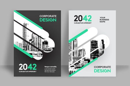 Foto für Corporate Book Cover Design Template in A4. Can be adapt to Brochure, Annual Report, Magazine,Poster, Business Presentation, Portfolio, Flyer, Banner, Website. - Lizenzfreies Bild