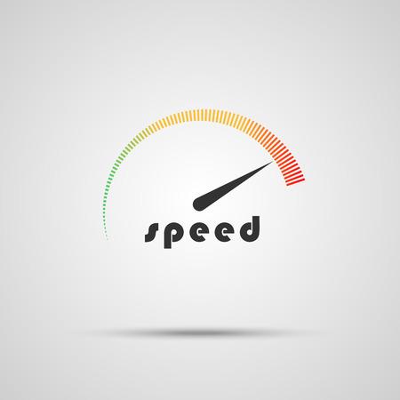 Illustration pour Speedometer icon. Logo company. Internet speed indicator. Vector illustration - image libre de droit