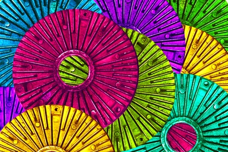 colorful abstract based on fan clutch auto part