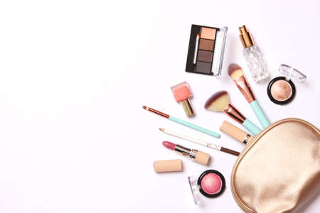 Photo for professional makeup tools. Makeup products. A set of various products for makeup - Royalty Free Image