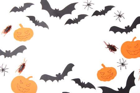 Foto de Halloween holiday background top view. Place for text - Imagen libre de derechos