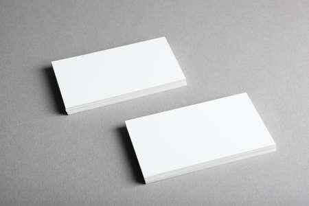 Photo pour business cards on a colored background top view. Place to insert text - image libre de droit