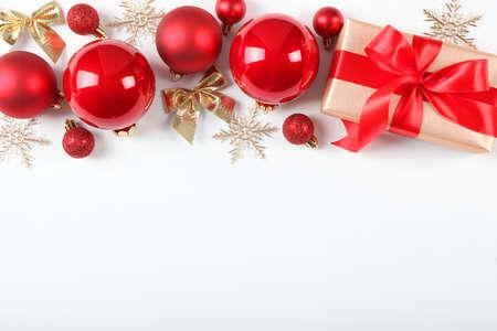 Photo pour Christmas or New Year accessories top view. - image libre de droit
