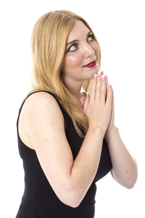 Attractive Young Woman Praying