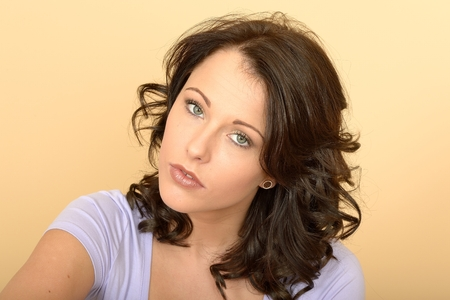 Attractive Sad Worried Thoughtful Young Woman Considering A Situation