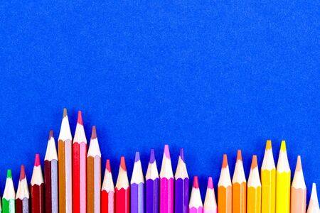 A Selection Of Colored Pencils For Back To School At The End of Holidays For a New Term