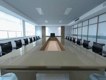 3d modern office meeting room