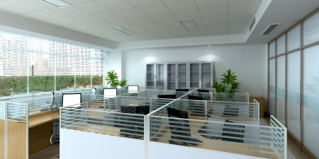 Photo for 3d office interior - Royalty Free Image