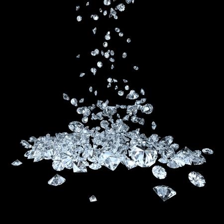many precious gems falling down