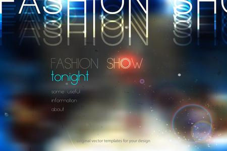 Ilustración de fashion show abstract vector background with blurred podium - Imagen libre de derechos