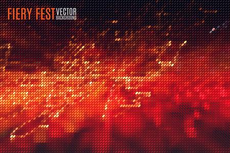 Illustration pour abstract fiery fest vector background build of tiny geometric particles - image libre de droit