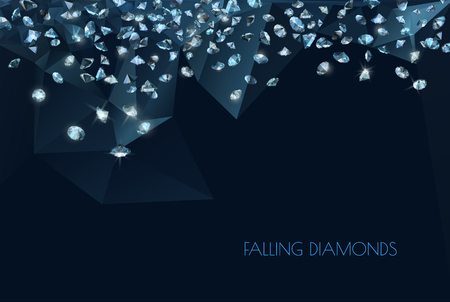 Illustration pour shiny diamonds background - image libre de droit