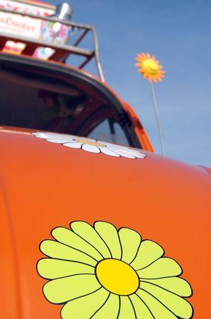 1960's era hippie car