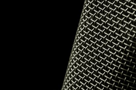 microphone macro abstract on black