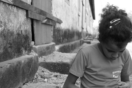 Sad and Poor Girl in Piracicaba