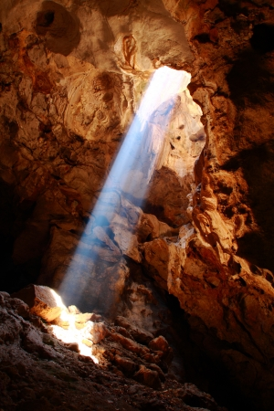 This is a nice sun ray in Khao-laung cave,Phetchaburi Thailand