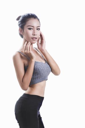 Foto de Asian women are beautiful and good shape Look healthy. - Imagen libre de derechos