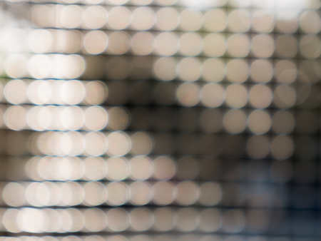 The Bokeh Sphere Shaped Arranged in a Round Mesh
