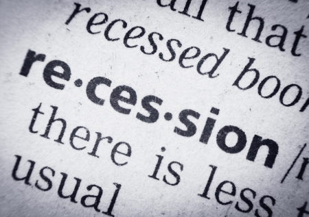 the word recession in a glossary, super macro