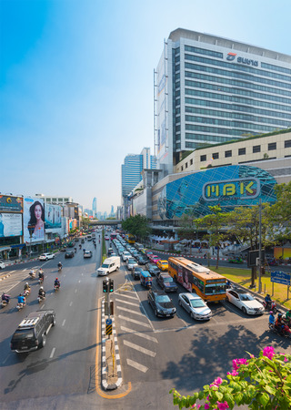 BANGKOK - MARCH 16, 2016: MBK Center is a large shopping mall that was the largest one in Asia when it opened in 1985. More than 100,000 people visit it daily, a third of whom are foreign visitors.
