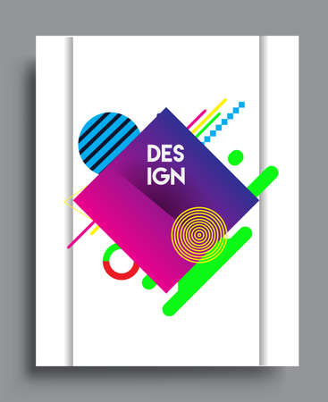 Illustration pour Abstract geometric pattern design and background. Vector templates for modern design, cover, template, decorated, brochure, flyer. - image libre de droit
