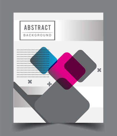 Photo pour Minimalistic design, creative concept Abstract geometric design, Memphis pattern and colorful background. Applicable for placards, brochures, posters, covers and banners. - image libre de droit