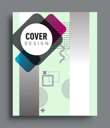 Illustration pour Minimalistic design, creative concept Abstract geometric pattern design and colorful background. Applicable for placards, brochures, posters, covers and banners. - image libre de droit
