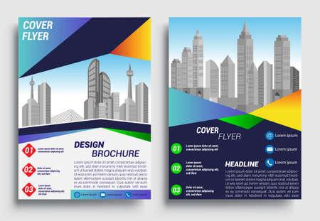 Foto für Business brochure flyer design layout template in A4 size, report, poster, flyer background with geometric background for Business Presentation, Portfolio, Banner, Website. - Lizenzfreies Bild