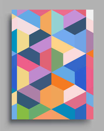 Illustration for Modern geometric abstract background covers. colorful pattern geometric shapes composition, vector illustration. - Royalty Free Image
