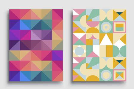 Photo pour Modern geometric abstract background covers sets. colorful pattern geometric shapes composition, vector illustration. - image libre de droit