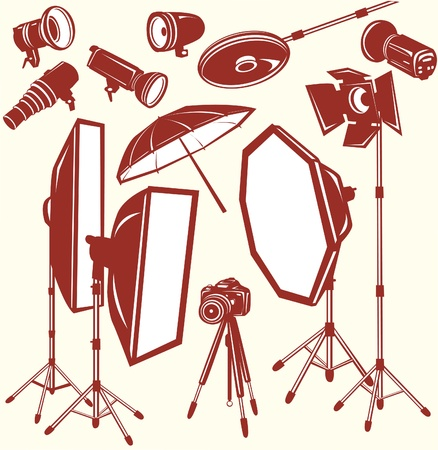 Set of studio equipment