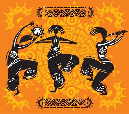 Illustration pour Dancing figures - image libre de droit