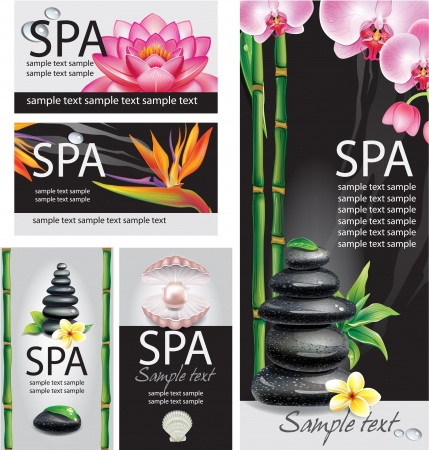 Illustration for SPA concept - Royalty Free Image
