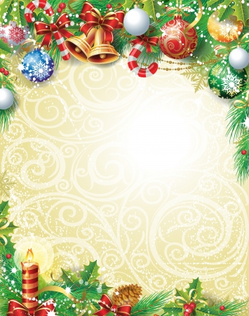 Vintage Christmas backgroundのイラスト素材