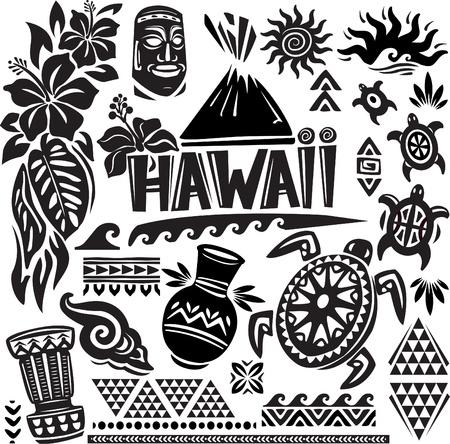 Illustration pour Hawaii Set - image libre de droit
