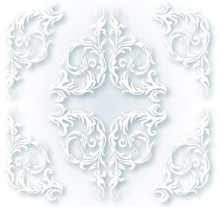 White ornament for design elements